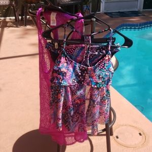 Brand new 2 piece bathing suit never worn